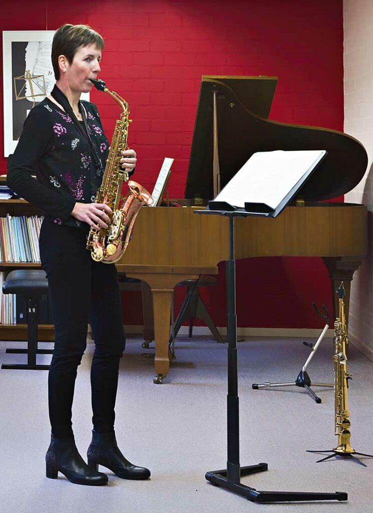 Suzanne Welters is ook te boeken als solsite op de sopraan- of alt saxofoon!